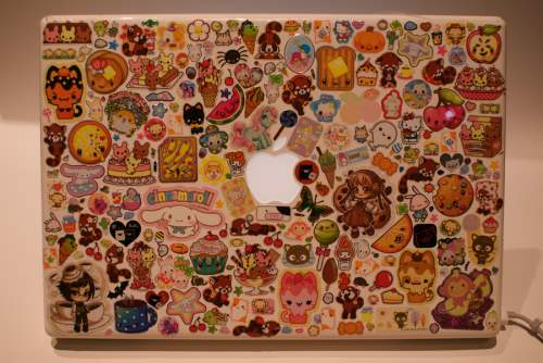 20 The Cutest Laptop in the World 500x334 50 Creative Laptop Skins and Stickers Design