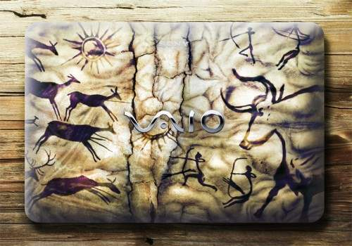 25 Sony Vaio Cover Design 500x350 50 Creative Laptop Skins and Stickers Design