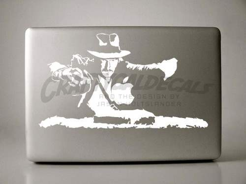 4 Indiana Jones Sticker Design 500x374 50 Creative Laptop Skins and Stickers Design
