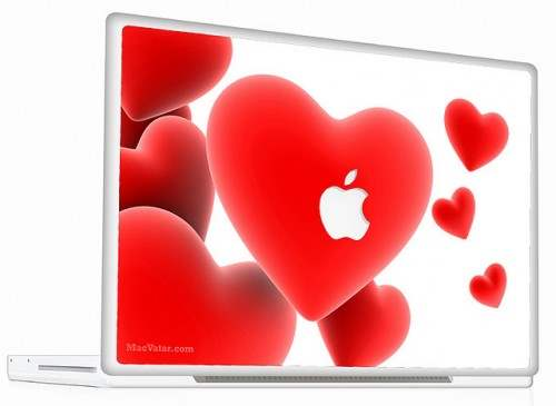 6 Macbook Skin Heart Cell 500x365 50 Creative Laptop Skins and Stickers Design