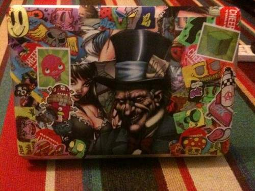 7 Sticker Bomb Laptop 500x375 50 Creative Laptop Skins and Stickers Design