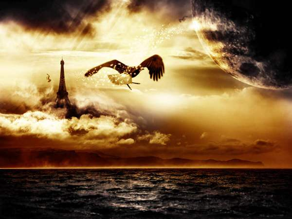 Design A Surreal Floating Eiffel Tower Scene In Photoshop 50+ Latest Photo Manipulation Tutorials in Photoshop