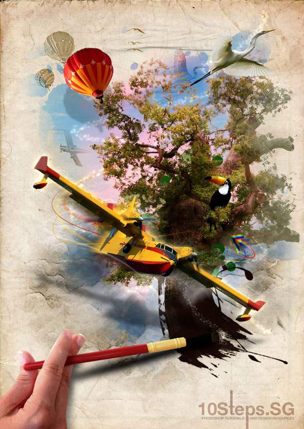 How To Create An Imaginative Magical Painted Scene 50+ Latest Photo Manipulation Tutorials in Photoshop