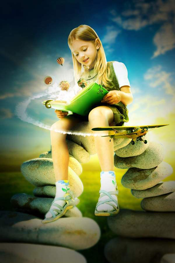 Photo Manipulate An Explosive Magical Reading Scene 50+ Latest Photo Manipulation Tutorials in Photoshop