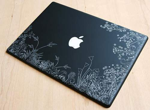 apple2 50 Creative Laptop Skins and Stickers Design