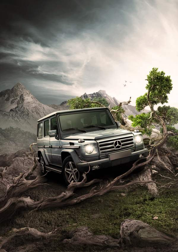 car advertisement poster photo manipulation jan 2012 50+ Latest Photo Manipulation Tutorials in Photoshop