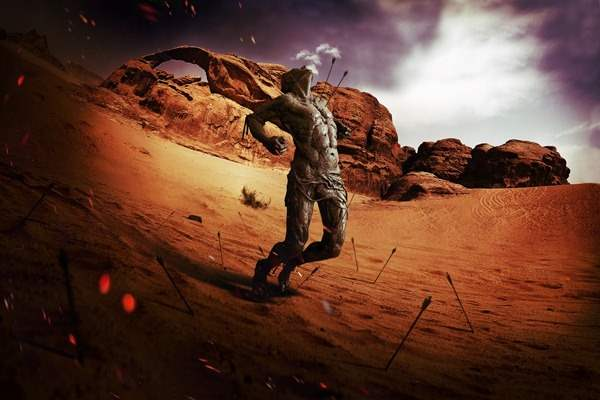 dramatic fisheye spartan photo manipulation jan 2012 50+ Latest Photo Manipulation Tutorials in Photoshop