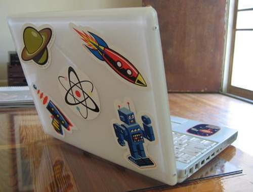 stick 50 Creative Laptop Skins and Stickers Design