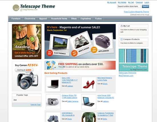 75 High-Quality Free Magento Themes (Templates) - Designsmag