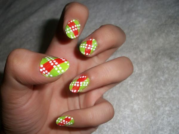 Red And Green Nail Polish Designs Hession Hairdressing