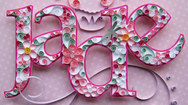 45 Inspiring Paper Cut-out Typography