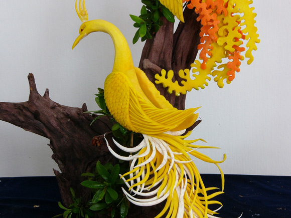 Vegetable carving pictures fruit and