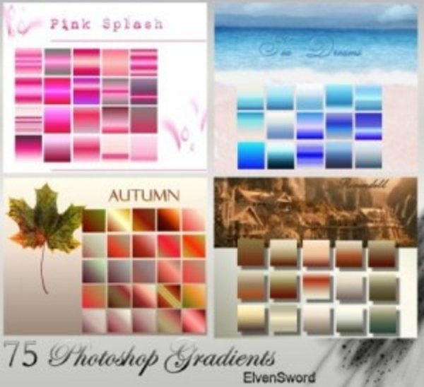 75 Photoshop Gradients by ElvenSword 300x274 Free Photoshop Gradients for Designers