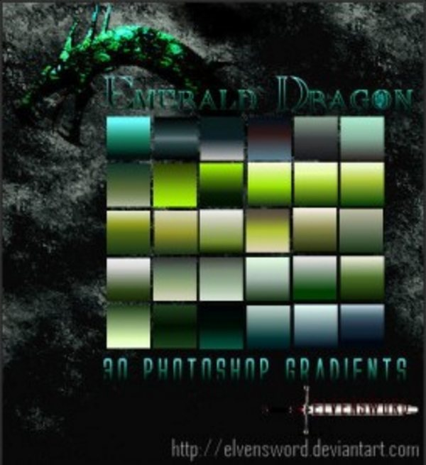 Emerald Dragon Ps Gradients by ElvenSword 275x300 Free Photoshop Gradients for Designers