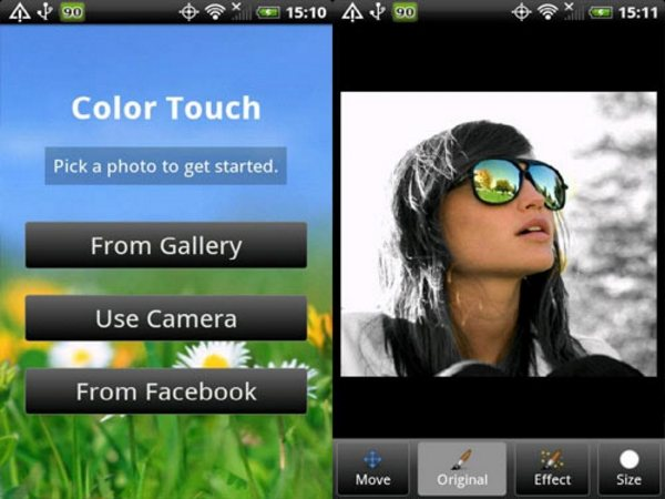Color Touch Effects Android Apps for Designers