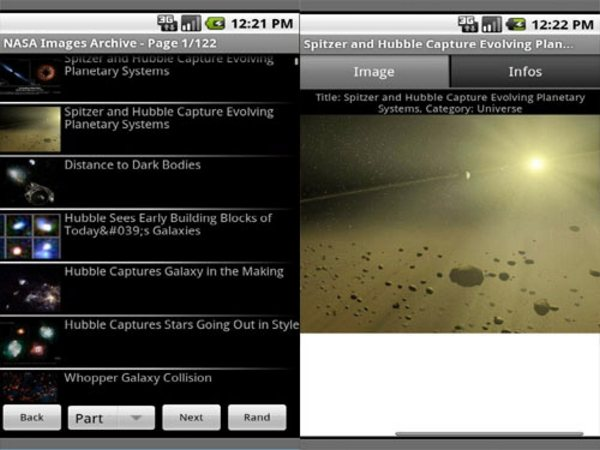 NASA Images Archive Android Apps for Designers