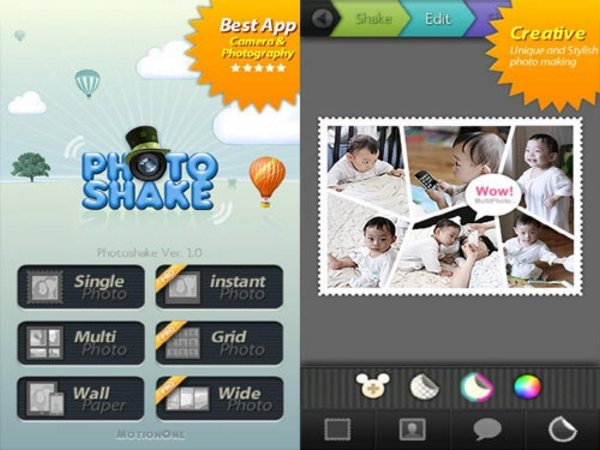 PhotoShake Android Apps for Designers