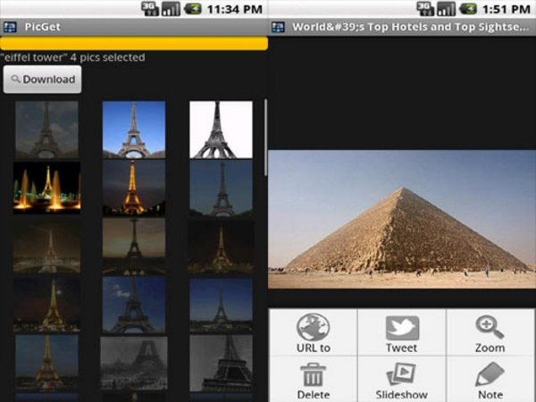 PicGet Android Apps for Designers