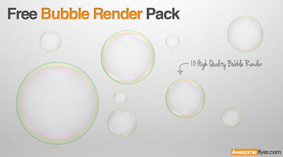 free soap bubble render pack