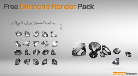 free diamond render pack
