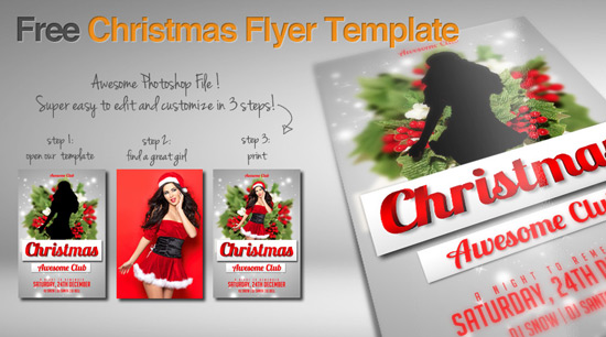 free christmas flyer template awesomeflyer comjpg