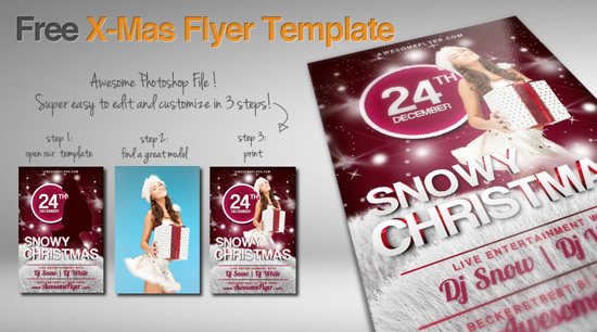 free x-mas flyer template