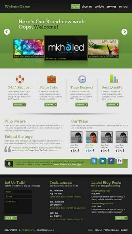 superb web design photoshop tuts 12 Superb Web Layout Design Tutorials of Photoshop