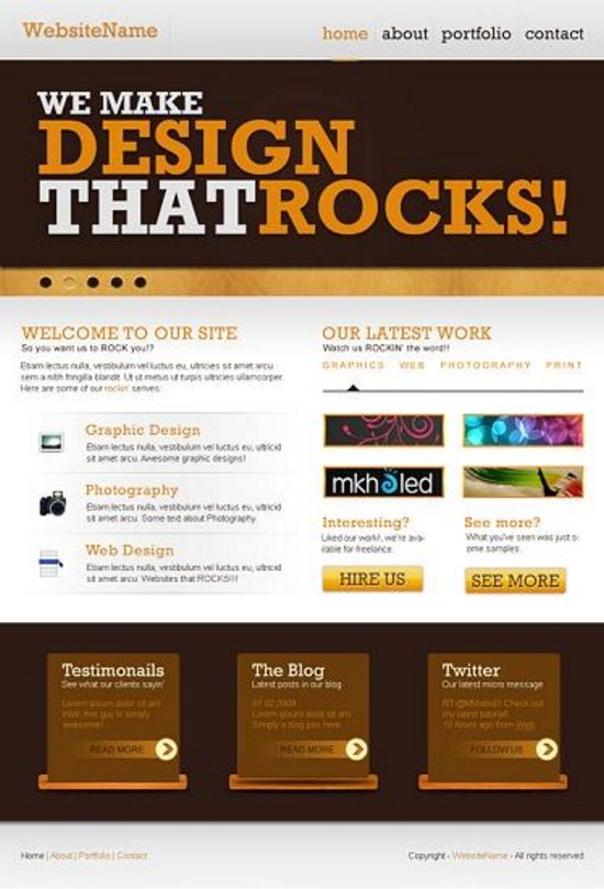 superb web design photoshop tuts 18 Superb Web Layout Design Tutorials of Photoshop