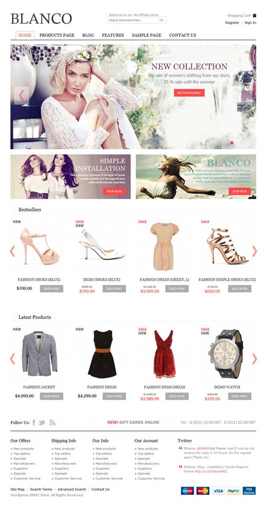 Blanco 20 Best Ecommerce Themes for WordPress Website