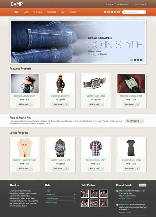 Camp 20 Best Ecommerce Themes for WordPress Website