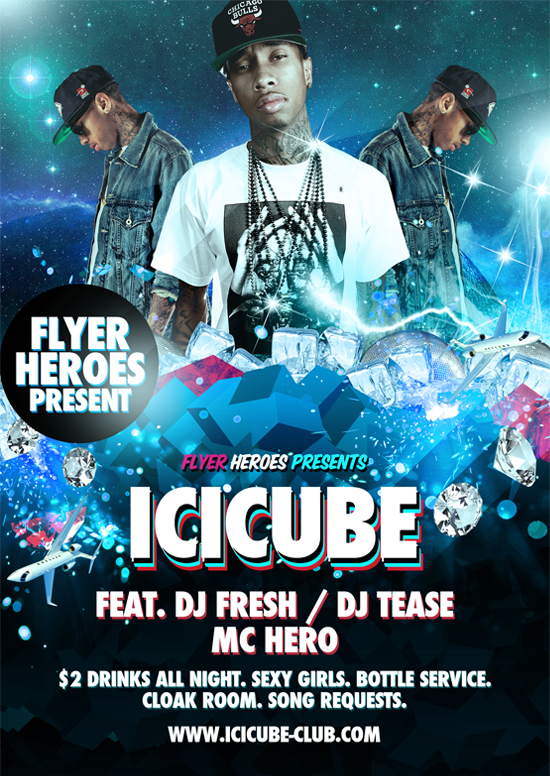 Icicube Free PSD Flyer Template