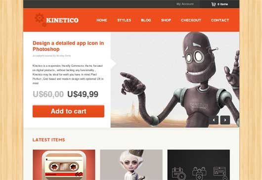 Kinetico 20 Best Ecommerce Themes for WordPress Website