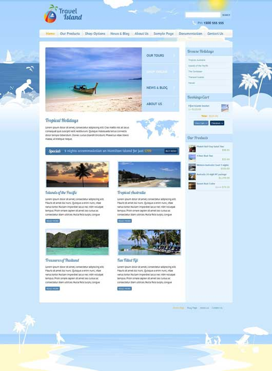 Travel Island 20 Best Ecommerce Themes for WordPress Website