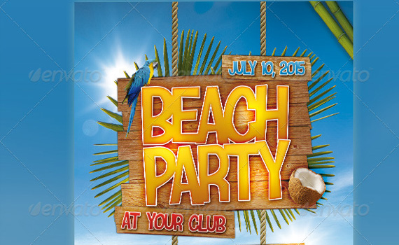 Beach-party-premium-print-ready-flyers