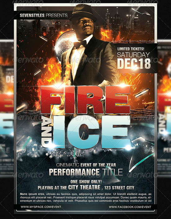 Fire and Ice Flyer Template