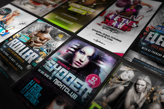 Free PSD Poster Mock Up