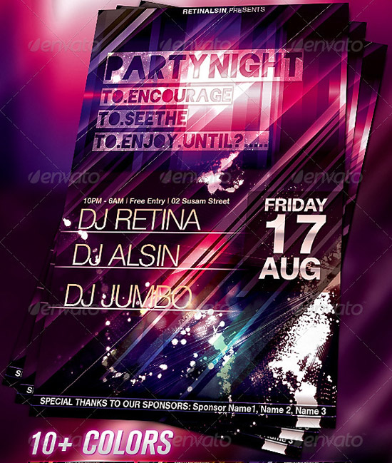 Party Flyer Template by Retinal SIn