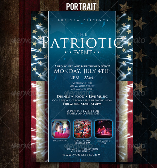 Patriotic 4th of July Flyer Template