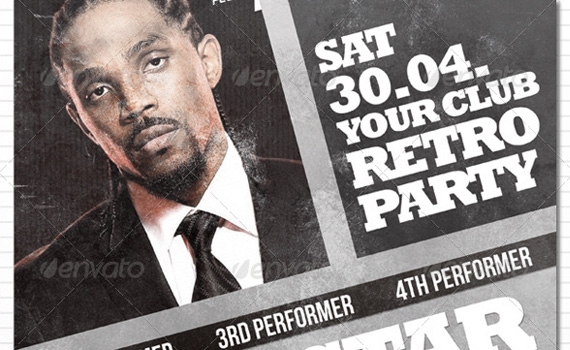 Retro-party-premium-print-ready-flyers