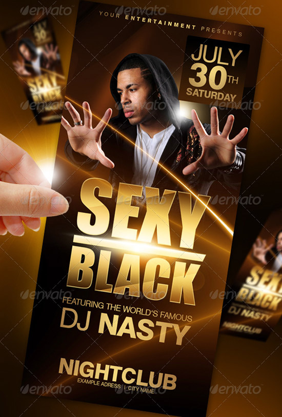 Sexy Black Party Flyer Template