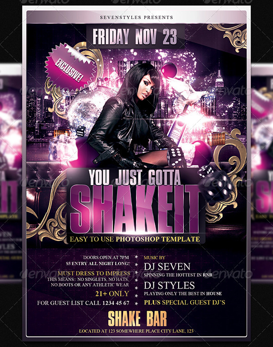 Shakeit Flyer Template