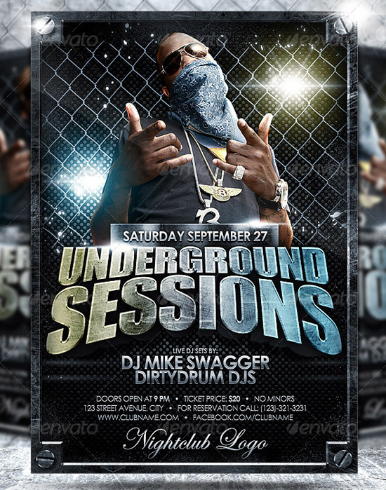 Underground Flyer Template