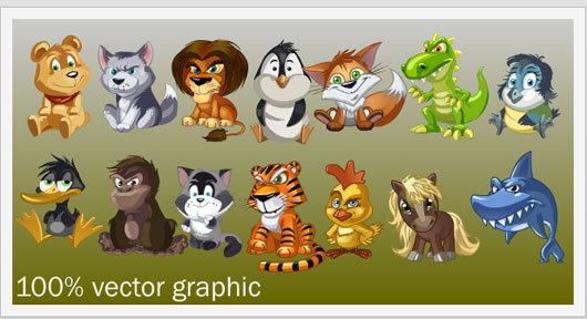Animation of Animals Marvelous 35 Premium Flash Animations with Source Files