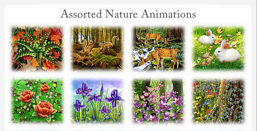 Assorted Nature Animations Marvelous 35 Premium Flash Animations with Source Files