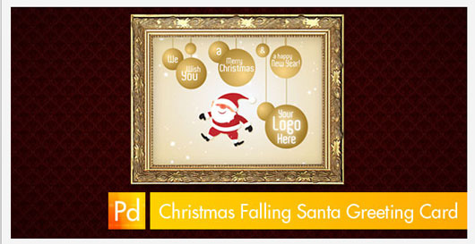 Christmas Falling Santa Greeting Card 1 Marvelous 35 Premium Flash Animations with Source Files