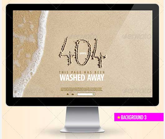 Cleaned Away 404 Error Design Resources to Get More Attention