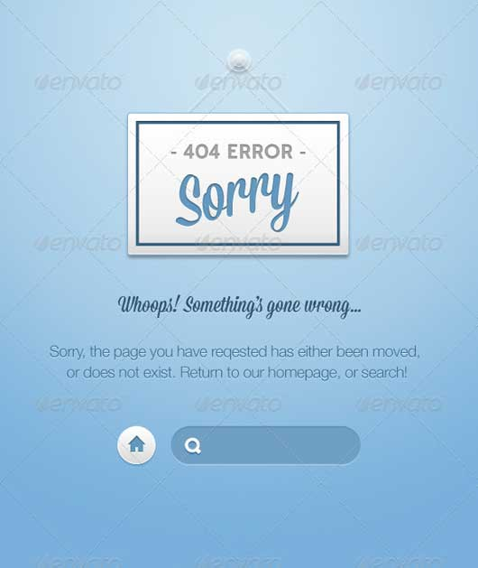 Courteous Sorry 404 Error Design Resources to Get More Attention