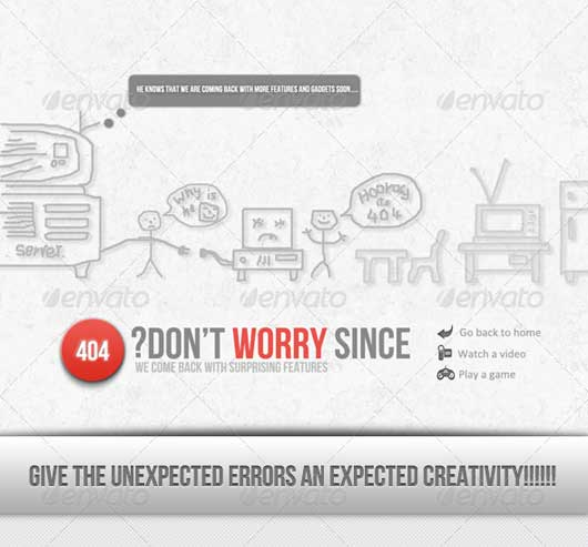 Dont Worry 404 Error Design Resources to Get More Attention
