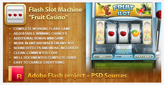 Flash Slot Machine Fruit Casino 23 Marvelous 35 Premium Flash Animations with Source Files