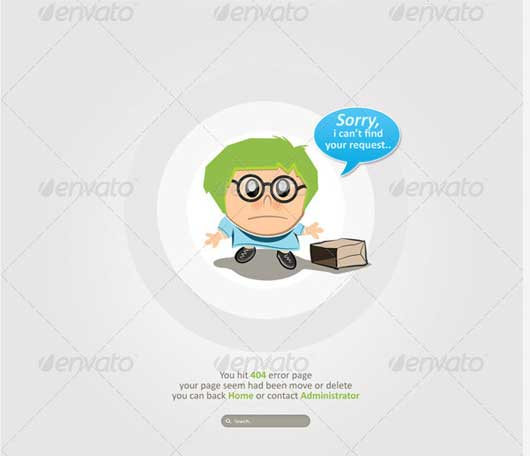 Humorous Character 404 Error Design Resources to Get More Attention